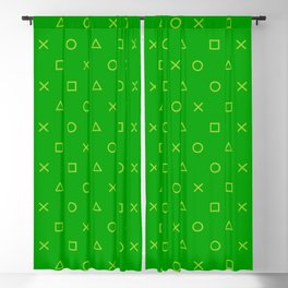Green Gamer Pattern Blackout Curtain