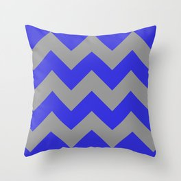 Chevron Navy Throw Pillow