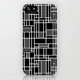 Map Lines Black iPhone Case