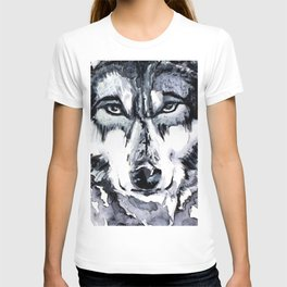 Abstract Wolf - Zoomed T-shirt