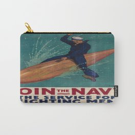 Vintage poster - Join the Navy Carry-All Pouch