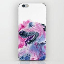 Irish Wolfhound Watercolor iPhone Skin