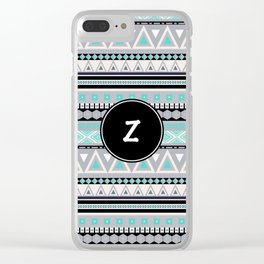 Monogram Tribal Pattern *Z* Clear iPhone Case