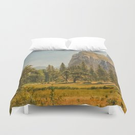 Bridal Veil Falls, Yosemite Valley, California Duvet Cover