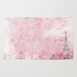 Paris abstract Landscpe On Pink Rug