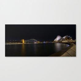 Sydney Opera House and Bridge at night Canvas Print