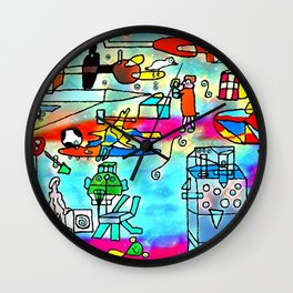 Yards and laboratories Wall Clock