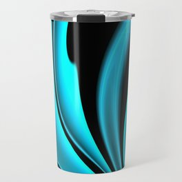 Abstract Fractal Colorways 02 Pacific Blue Travel Mug