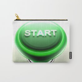Green pushbutton to START - 3D rendering Carry-All Pouch