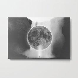 Moon Talks Metal Print