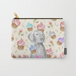 CUPCAKES AND WEIMARANER Carry-All Pouch