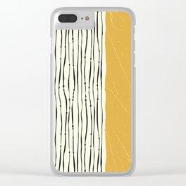 Gold Zebra Stripes Clear iPhone Case