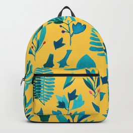 nature on yellow Backpack