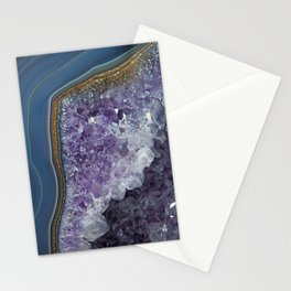 Amethyst Geode Agate Stationery Cards