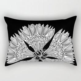 Flower Power - black/white Rectangular Pillow