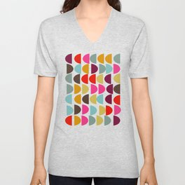 Geometric in Bright Fall Colors Unisex V-Neck