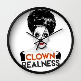 """""""Clown Realness"""" Bianca Del Rio, RuPaul's Drag Race Queen Wall Clock"""