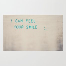 I can feel your smile ... Rug