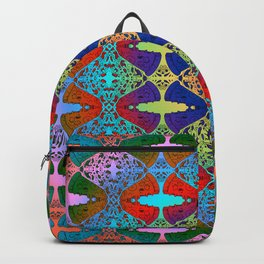 Pizza Party double rainbow gradient doodle Backpack