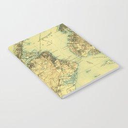 Vintage Staten Island Map Notebook