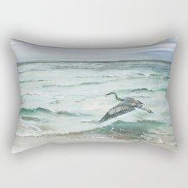 Anna Maria Island Florida Seascape with Heron Rectangular Pillow