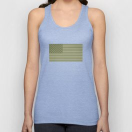 Camo Stars and Stripes – USA Flag in Military Camouflage Colors [FalseFlag 1] Unisex Tank Top