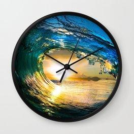 Glowing Wave Wall Clock