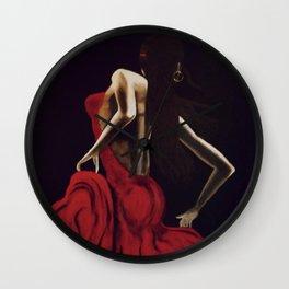 Crimson Beauty Wall Clock