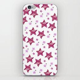 Twinkle little purple stars iPhone Skin