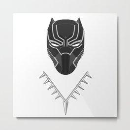 Wakanda Figure Metal Print