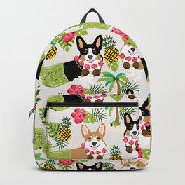 Corgi Hula Summer Tropical Dogs Design Backpack