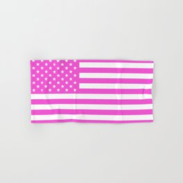 U.S. Flag: Pink Hand & Bath Towel