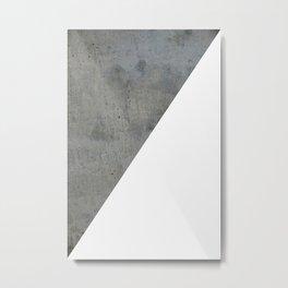 Concrete Vs White Metal Print