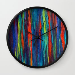 Rainbow Eucalyptus III Wall Clock