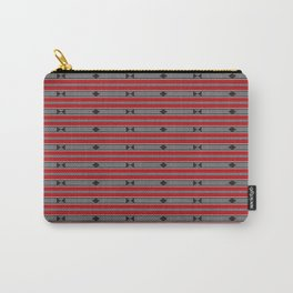 ethnic weave horizontal red Carry-All Pouch