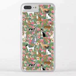 Chihuahua mixed coats dog breed floral pet art must have chiwawa lover gifts Clear iPhone Case