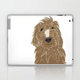A doodle of a Golden Doodle Laptop & iPad Skin