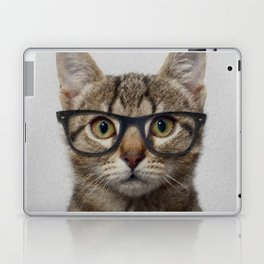 Hipster Cat Laptop & iPad Skin