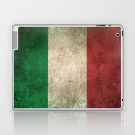 Old and Worn Distressed Vintage Flag of Italy Laptop & iPad Skin