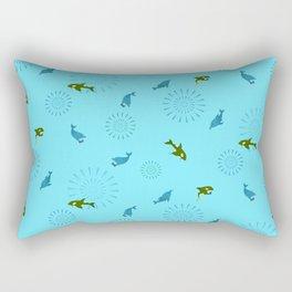 Blue Dolphin and Orca Rectangular Pillow