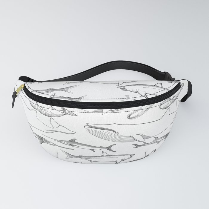 The deep Sea- Whale-Shark,Fish- Ocean Animals Fanny Pack