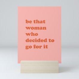 Female Empowerment Entrepreneur Quote Mini Art Print
