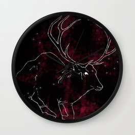 Stag in the Dusk Wall Clock