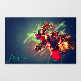 Jinx the loose cannon  Canvas Print