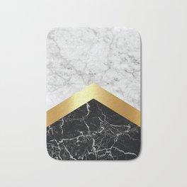 Arrows - White Marble, Gold & Black Granite #147 Bath Mat