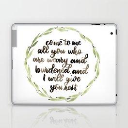 Matthew 11:28 Wreath Laptop & iPad Skin