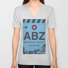 ABZ airport Unisex V-Neck