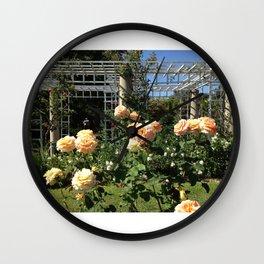 Huntington Roses: III Wall Clock