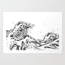 White Wave Art Print