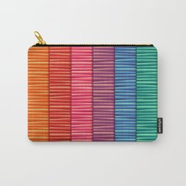Rainbow Striped Pattern Carry-All Pouch